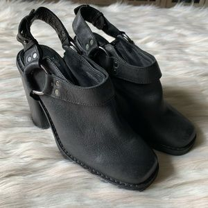 Urban Outfitters Ecote Moto Chunky Slingback Mules